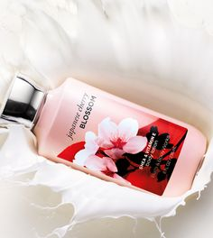 Immerse yourself in this rich NEW formula ... the smoothest way to soak up your favorite fragrance. #JapaneseCherryBlossom