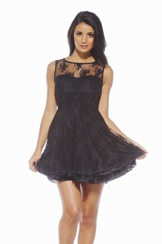 Lace Flare Out Dress | click to see at shopmodmint.com