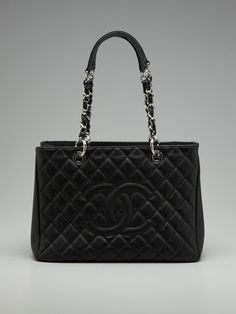 vintage Chanel  ..quilted caviar grand shopper tote
