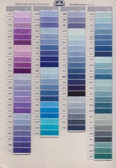 kleurenkaart DMC-garen