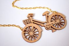 Wooden bicycle pendant by Rock Cakes