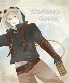 Steam punk Canada Mode Steampunk, Steampunk Cosplay, Canada, Hetalia Characters, Fictional Characters, Hetalia Fanart, Hetalia Anime, Hetalia Funny, Hetalia Headcanons
