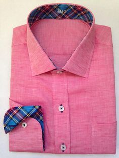 Spring Red Linen with plaid  available at lynnhoffman.jhilburn.com