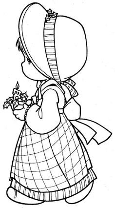 Stunning Painting Coloring Pages 63 Girl in christmas coloring