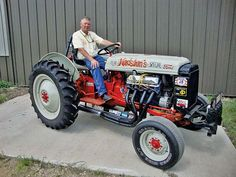 In 1969, Art Nordstrom built a one-of-a-kind Ford 8N tractor used to push-start sprint cars.