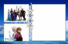 """Kit Digital Aniversário """"Frozen Disney-Uma aventura congelante"""" com rótulos para guloseimas, convites ....para Imprimir - Convites Digitais Simples"""