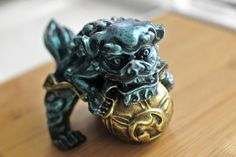 Foo Dog Clutching Ball Soap / Chinese Guardian Lion Clutching
