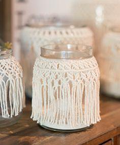 Louragan en macramé macramé Vase pot en macramé