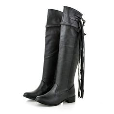 ReShop Store now has Black Brown White... - #buy #sexy here http://www.reshopstore.com/products/black-brown-white-women-knee-high-riding-tassel-boots-up-to-size-12?utm_campaign=social_autopilot&utm_source=pin&utm_medium=pin