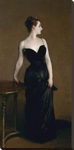 Stretched Canvas Print: Madame X (Madame Pierre Gautreau), 1883 by John Singer Sargent : 30x15in