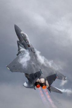 F-15 Eagle In A Ballistic Climb-Out
