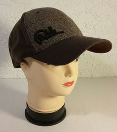 Ride Snowboards Flex Fit Tweed Brown European Union Baseball Cap Hat Wool Blend #EuropeanUnion #BaseballCap