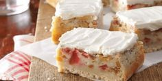 5-Star Rhubarb Custard Bars! | The Baking Bit