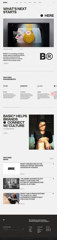 BASIC landing page design inspiration - Lapa Ninja The Effective Pictures We Offer You About Web Design tendance A quality picture can tell you many things. You can find the most beautiful pictures th Web Layout, Layout Design, Clean Websites, Swiss Design, Ui Design Inspiration, Landing Page Design, Graphic Design Studios, Interface Design, Interactive Design