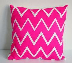hot pink chevron throw pillow  ✖fresh/modern/neon✖  ☼ fresh/modern ☼
