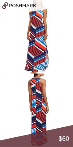 🎄Striped Jersey Maxi Dress PRODUCT FEATURES   Pleated scoopneck   Side slits   Sleeveless   Stretchy jersey construction   Unlined FIT & SIZING   55-in. approx. length from shoulder to hem   Maxi length FABRIC & CARE   Polyester, elastane   Machine wash   Imported.                                                                                          💯 Brand Authentic.                                                 🖲 Use offer button to negotiate.                          ✅ Bundle for…