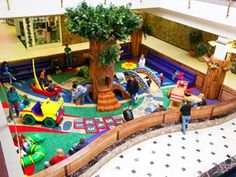 Kids can play hopscotch, climb through a tree, or crawl on a snake in this bright play park!  For more information on Center Stage play parks, visit: www.cspdisplay.com/soft-play-parks.