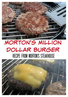 Morton's Million Dollar Burger - recipe from Morton's Steakhouse - it really is . - Morton's Million Dollar Burger – recipe from Morton's Steakhouse – it really is the best bu - Grilling Recipes, Meat Recipes, Cooking Recipes, Grilled Hamburger Recipes, Hamburger Patties Recipe, Juicy Hamburger Recipe, Hamburger Egg, Stuffed Burger Recipes, Hamburger Seasoning Recipe