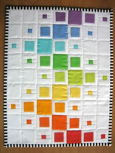 vikki posted Vintage Chenille Patchwork Quilt to their -quilting fever- postboard via the Juxtapost bookmarklet. Quilt Baby, Quilting Projects, Quilting Designs, Quilting Ideas, Rainbow Quilt, Rainbow Blocks, Contemporary Quilts, Patchwork Quilting, Patchwork Blanket