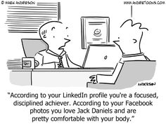 Linked In vs Facebook is always very revealing... #recruiter #recruitment