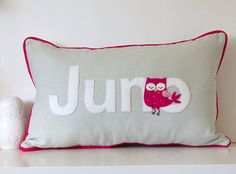 Custom Name Letter Pillow by ChristineElliott on Etsy, $50.00