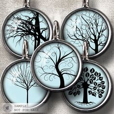 Trees  2 Digital Collage Sheets CG662C3  for by CobraGraphics, $3.90