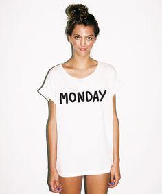 Lazy Oaf Monday Slob T-shirt
