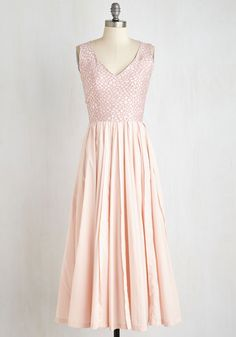 On a Scale of 10 to 10 Dress - Long, Pink, Special Occasion, Fit & Flare, Woven, Best, Backless, Prom, Wedding, Bridesmaid, Valentine's, Pastel, V Neck