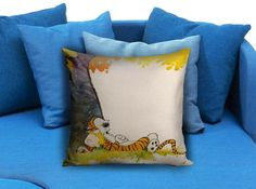 Calvin and Hobbes Sleep Square  These soft pillowcase made of 50% cotton, 50% polyester.  It would be perfect to decorate your home by using our super soft pillow cases on sofa, chair, bench or bed.  Customizable pillow case is both comfortable and durable, improving the quality of your sleep with these comfortable pillow case, take it home now!  Custom Zippered Pillow Cases available in 7 different size (16″x16″, 18″x18″, 20″x20″, 16″x24″, 20″x26″, 20″x30″, 20″x36″)