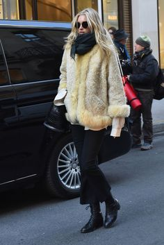 "dailyhosk: "" Elsa Hosk out and about in Paris, France on December 2nd. """