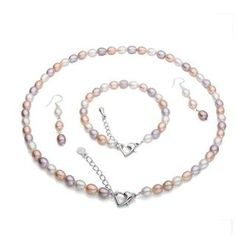 Buy ViVi Pearl Set: Multicolor Freshwater Pearl Necklace + Bracelet + Earrings at YesStyle.co.uk! Quality products at remarkable prices. FREE SHIPPING to the United Kingdom on orders over £25.