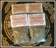 """Blessed Thistle Magickal Herb ~ Holy Thistle ~ Protection Herb ~ Healing Herb ~ Incense ~ Spells ~ Wicca ~ Witch ~ Pagan ~ 3"""" x 3"""" Bag by SummerlandBB on Etsy"""