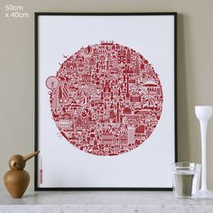 'London Calling' is a highly original graphic interpretation of all that makes London one of the world's most vibrant and visual cities.AVAILABLE IN TWO COLOURS: Red on White or Red on Buff (light beige).A truly eclectic mix of subject matter. History, architecture, icons, culture, music, people and everyday life all combine in an intricate visual jigsaw that you will never tire of looking at. Another unique nickprints design incredibly detailed with over 500 icons! This original and hugely…