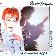 Scary Monsters mainly serves as a transitional album in Bowie's career. While the album partly serves as Bowie's final goodbye to his career up to that point (with referential Halloween Playlist, Cover Art, Lp Cover, Vinyl Lp, Vinyl Records, Rca Records, Vinyl Music, Musica 80s, Lps