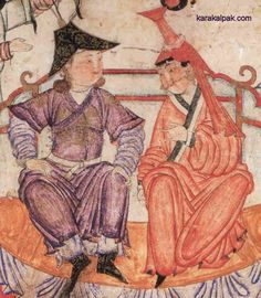 Early 14th century minature of a Mongol bride with a boghtaq from Iran. Illustration from the Heinrich von Diez Albums, Staatsbibliothek zu Berlin.