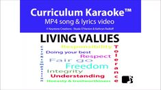 'LIVING VALUES' (Grades 'Living Values' is a curriculum-aligned, whole school, anthem-s Poetry Lessons, Singing Lessons, Singing Tips, Upper Elementary, Elementary Schools, Values Education, Core Values, Teacher Hacks, Teaching Resources