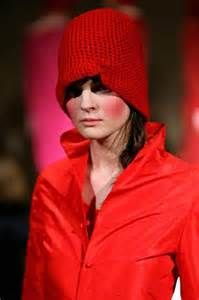 Daniela Gregis design on the Milan runway-she is an Italian designer who has helped put crochet on the map. Her fashion models are also a refreshing change.