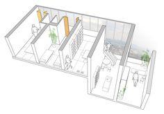 Gifu Kitagata (SANAA) Case Study Typical apartment unit. Year 3.