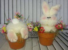 Busy Bunny's  Handmade Bunny's in Flower Pot