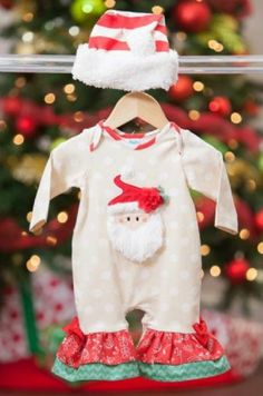 Latest Arrivals Peaches N Cream S... Check it out here http://jenskidsboutique.net/products/peaches-n-cream-sleigh-bells-infant-romper-w-hat?utm_campaign=social_autopilot&utm_source=pin&utm_medium=pin