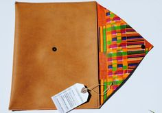 Tan african print clutch by FloatingChairs on Etsy, $38.00