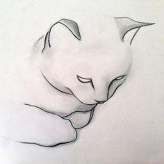 "Saatchi Online Artist Kellas Campbell; Drawing, ""Pencil Cat Drawing"" by SAburns"