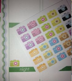 30 Camera Stickers! Perfect for your planner or for scrapbooking! on Etsy, $3.75