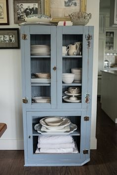 Living With Kids: Kimberly Taylor-  old blue cupboard