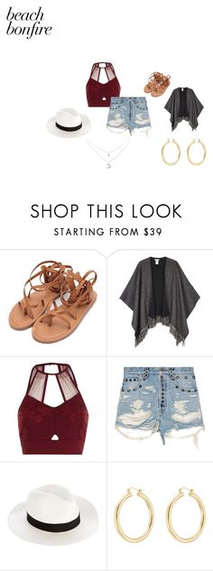A fashion look from August 2017 featuring cut-out crop tops, destroyed jean shorts and flat footwear. Browse and shop related looks. Beach Bonfire, Isabel Marant, River Island, Gucci, Shoe Bag, Polyvore, Stuff To Buy, Shopping, Collection