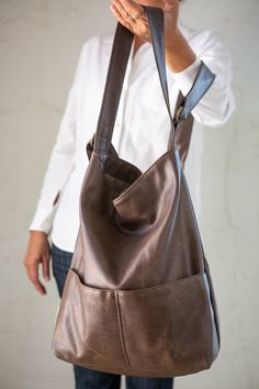 be71bd043b9d Brown Hobo Bag Vegan Womens Bag Brown Faux Leather Purse