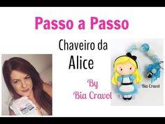 Como fazer um lindo chaveirinho da Alice - Bia Cravol - YouTube