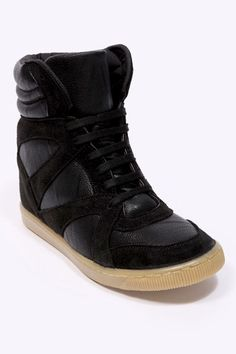 c9894078360 BDG Banks Black Concealed Wedge Trainers Deena Ozzy