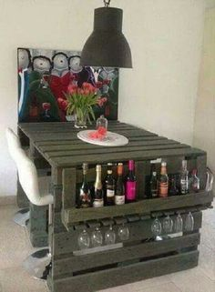 17+ Awesome DIY Wood Pallet Dining Table Set Ideas