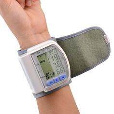 Cuidado de la salud Portátil LCD Digital de Muñeca Monitor de Presión Arterial medidor De Pulso Tonómetro + Heart Beat Meter XYJ01WQ-S4849